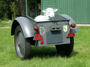 Kettenkrad trailer Sd.Anh.1 with cargo, view from the rear
